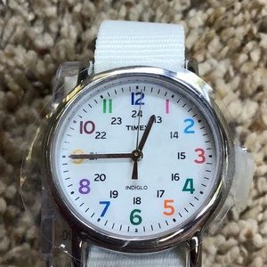 New Timex Weekender Indiglo Watch Nylon Strap